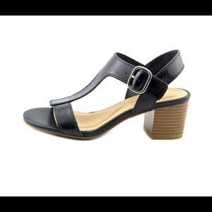 Alfani Yulia ankle strap heeled sandals 7.5 black